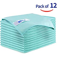 MR. SIGA Ultra Fine Microfiber Cloths for Glass Pack of 12 35 x 40cm 13.7 x 15.7
