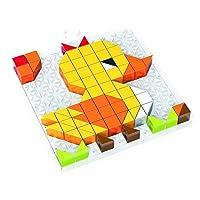 YIJUPIN 幼児の論理性の練習のための1件のDIYのおもちゃパズルブロックおもちゃ知育おもちゃ学習中4 (色 : Blocks)
