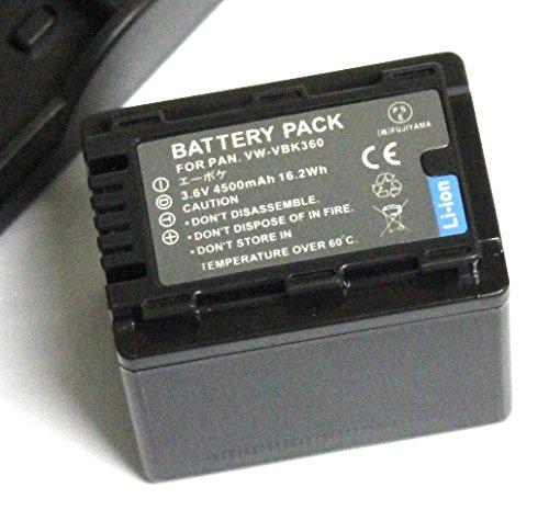 【エーポケ】 VW-VBK360-K 互換バッテリー & USB充電器セット Panasonic HDC-TM70/HDC-TM60/HDC-HS60/HDC-TM35/HDC-TM90/HDC-TM95/HDC-TM85/HDC-TM45/HDC-TM25/HC-V700M/HC-V600M/HC-V300M/HC-V100M大容量バッテリー