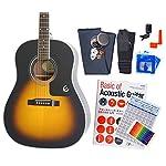 Epiphone エピフォン アコギ AJ-100 アコースティックギター 初心者 入門 12点 セット VS 〔98765〕