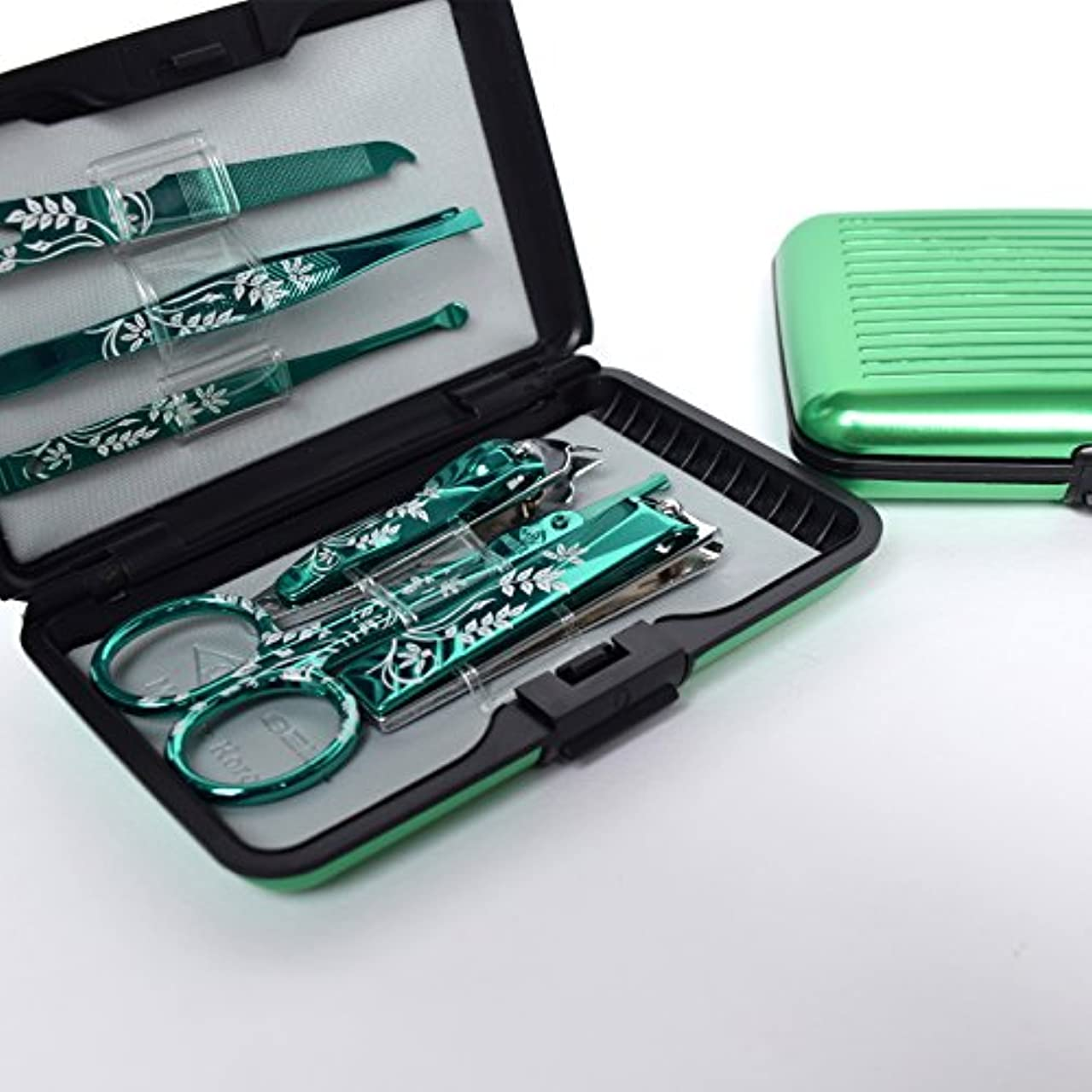タッチ料理平和BELL Manicure Sets BM-800A ポータブル爪の管理セット 爪切りセット 高品質のネイルケアセット花モチーフのイラストデザイン Portable Nail Clippers Nail Care Set