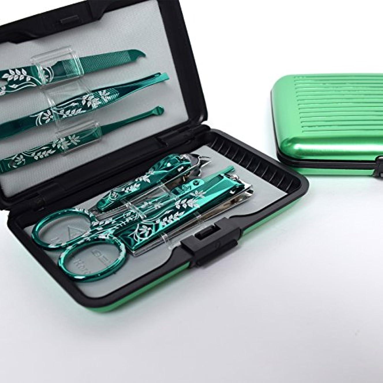 出版焦がす主観的BELL Manicure Sets BM-800A ポータブル爪の管理セット 爪切りセット 高品質のネイルケアセット花モチーフのイラストデザイン Portable Nail Clippers Nail Care Set