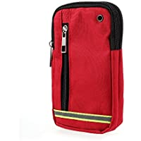 DFV mobile - Multipurpose Reflective Universal Belt Case with 3 Compartments for for => SWITEL VICTORY S4700D > Red