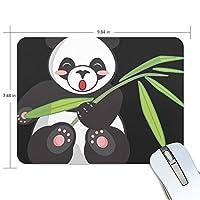 Jiemeil マウスパッド パンダ 竹 ラバー 高級感 おしゃれ 滑り止め PC  かっこいい かわいい プレゼント ラップトップ MacBook pro/DELL/HP/SAMSUNG などに プレゼント