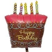 誕生日 バースデー お祝い 装飾 風船 バルーン電報 バルーンギフト キャンドル付きケーキの誕生日ブーケ
