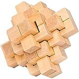 Ahyuan ハンドメイド 木製パズル 24ピース インターロッキング 頭の体操 おもちゃ 知育ゲーム 知恵 論理 マインドチャレンジ 脳トレー 学習 バー パズル 大人/子供用