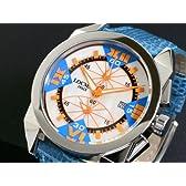 LOCMAN ロックマン 腕時計 ラージ 160 CR MOP-OR/青 革