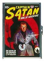 Captain Satan GothホラーステンレススチールIDまたはCigarettesケース( Kingサイズまたは100mm )