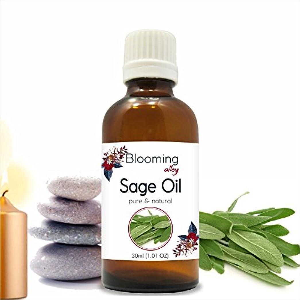移植差別化する長方形Sage Oil(Salvia Officinalis) Essential Oil 30 ml or 1.0 Fl Oz by Blooming Alley