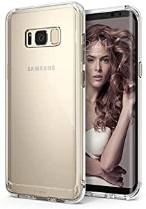 Galaxy S8 Plus ケース, Ringke [FUSION] [落下防止 / 衝撃吸収] 透明 クリアPC TPU カバー for Samsung Galaxy S8 Plus - Clear