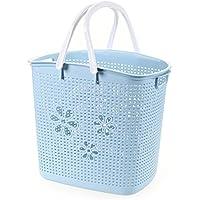 YI LU Deng JU- 汚れた服のバスケット、プラスチックの汚れた服の貯蔵用バスケット、洗濯用バスケット、服のバスケット (色 : Blue)