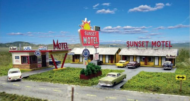 HO KIT Laser-Cut Sunset Motel