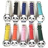 ぱんだ 腕時計 パンダ ファッション ウォッチ レザーストラップ