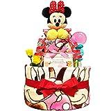 KanonBabys おむつケーキ [ 女の子向け   ディズニー : ミニー   2段 ] パンパースS22枚 ( 出産祝いに大人気 ) ダイパーケーキ ギフト 誕生日プレゼント 赤ちゃんの内祝い にもおすすめ