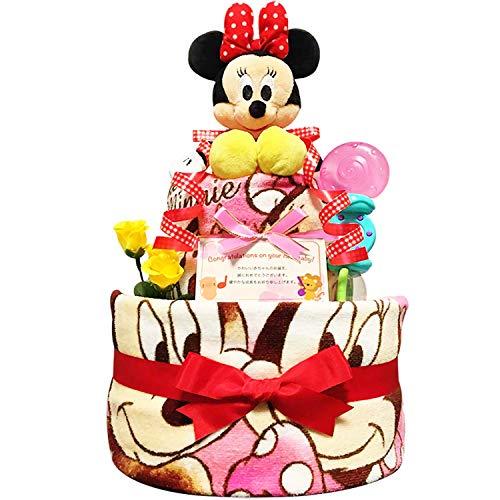 出産祝いに大人気! ディズニー ミニーのおむつケーキ/赤ちゃんの内祝い・誕生日プレゼント ギフトセット ...