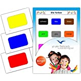 Colours Flashcards in English - Flash Cards with Matching Bingo Game for Toddlers, Kids, Children and Adults - Size 4.13 × 5.83 in - DIN A6