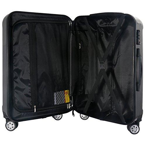 LEVIN スーツケース 機内持ち込み 超軽量〔安心のメーカー1年間保証付〕TSAロック ファスナー 鏡面加工 高級感 キャリーバッグ 機内持ち込み 軽量 旅行 出張用 ダークグレー Sサイズ(外寸:54×34×22cm / 33L / 2.54kg)