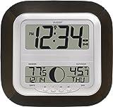 ムーンフェイズとラクロステクノロジーWS-8418U-IT原子デジタル壁掛け時計