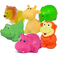 Puzzled Bath Buddies Collection - alligator, elephant, giraffe, monkey, hippo and lion, Set of 6 by Puzzled [並行輸入品]