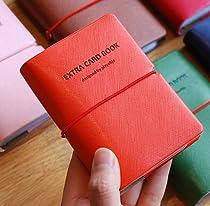 Extra Card Book (deep orange) カードケース PU素材 30枚収納 クレジットカード ポイントカードレディース ビジネス 収納 男女兼用 雑貨 名刺入れ ポイントカード入れ 大容量