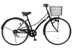 CHACLE(チャクル) 空気入れ不要! ノーパンク自転車 シティサイクル 27インチ [外装6段変速、ベルソーフレーム] ブラック CHN-CC276BE-SP