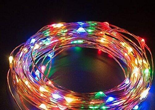 EloBethソーラーストリングライト 屋外ガーデンホームズクリスマスパーティーのため ストリングライト LED ジュエリーライト イルミネーション ライト LED ワイヤーライト クリスマス/飾り/電飾/クリスマスライトアンビアンス照明パワード 100球/150球/200球LEDライト (200球, マルチカラー)