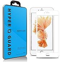 [HYPER GUARD]【30days プレミアム保障】 全面保護 ブルーライトカット 92% 日本製 旭硝子使用 iPhone6s / iPhone6 対応 ホワイト 強化ガラスフィルム 極薄 0.33mm 3dタッチ 硬度9H ラウンドエッジ加工 保護シート ガラスフィルム 国産 アイフォン6 アイフォン6S va001 16AC3-3-WHTv