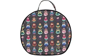 Dilly's Collections Large Round Multi-Purpose Toiletries Travel Makeup Cosmetic Bag - Babushka