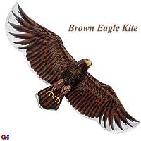 3d Extra LargeダークブラウンEagle Kite – ChineseハンドメイドシルクKites