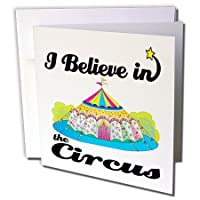 Dooni Designs I Believe In – I Believe In Circus – グリーティングカード Set of 12 Greeting Cards