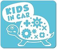 imoninn KIDS in car ステッカー 【マグネットタイプ】 No.53 カメさん (水色)