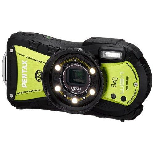 PENTAX 防水デジタルカメラOptio WG-1GPS グリーン GPS 約1400万画素 広角28mm 光学5倍 CALSモード 10m防水 超解像  1cmマクロ OPTIOWG-1GPSGR