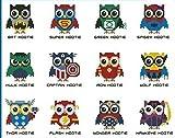 super owls cartoon icons cross stitch kits スーパーマン フクロウ 刺しゅうキット DMC刺繍糸 14ct 43x32cm 176x115 針 刺しゅうキット クロスステッチ キット