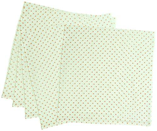 5枚組 ハーフサイズ ドビー織 水玉柄 仕立て布おむつ オレンジ TK713 日本製