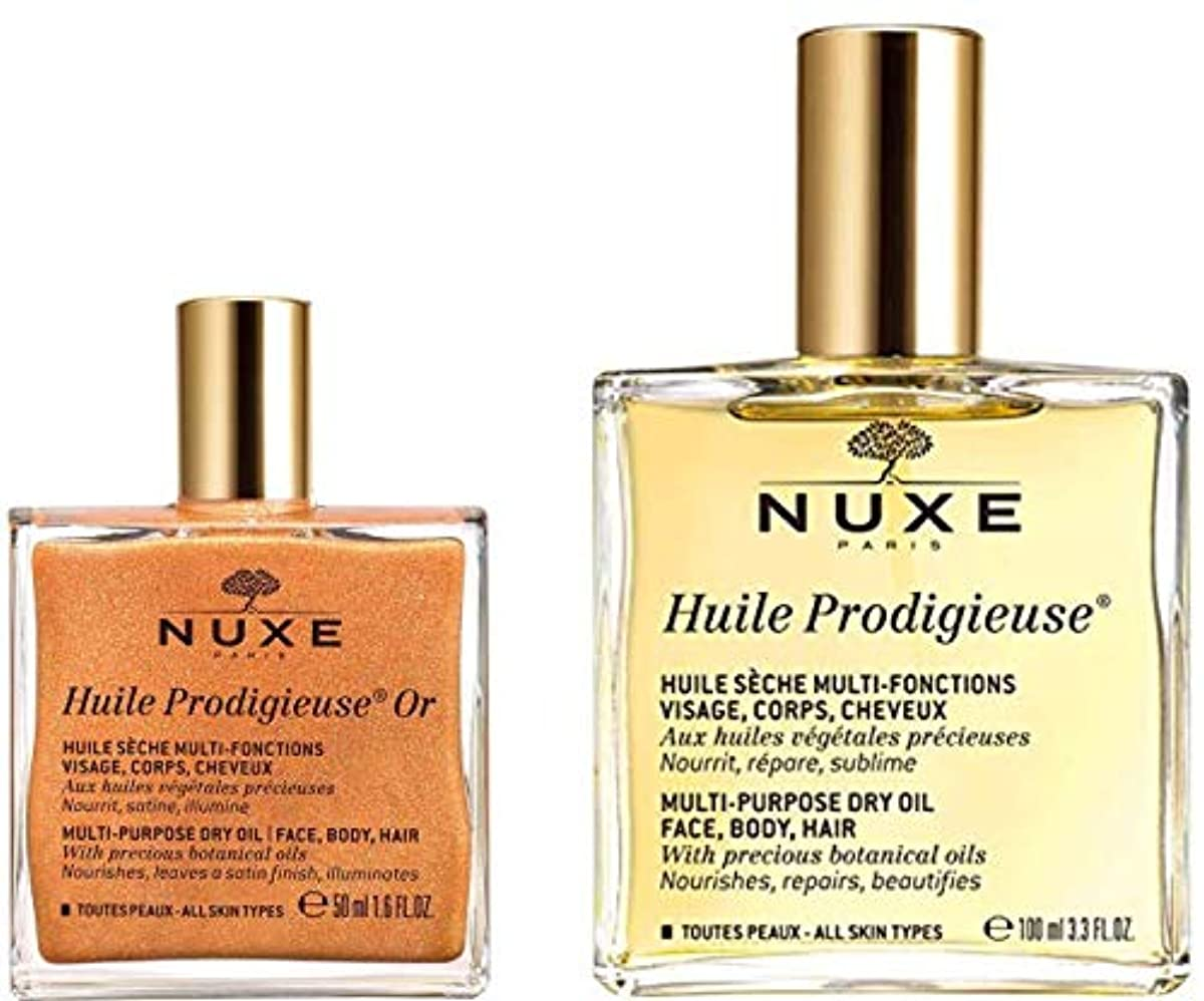 ハイライト血色の良いが欲しいニュクス プロディジューオイル N 100ml + プロディジュー ゴールド オイル 50ml セット (新処方) NUXE
