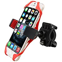 giveme5ユニバーサルバイク電話ホルダーwith Supergrip Elastic Stabilizer for iPhone 4,5,6,6sまたはAndroid Up To 4.7インチ画面