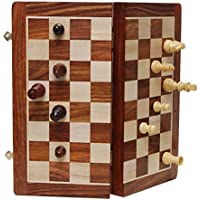 Best Chess 10 Inches Wooden Delux Magnetic Chess Set with Chess Pieces (Brown)
