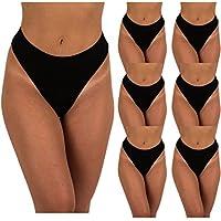 Sexy Basics Women's 6-Pack & 12 Pack Active Sport Thong Panties Underwear
