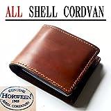 コードバン 財布(ホーウィン社 シェルコードバン 内側までオールコードバン 2つ折り財布)