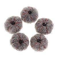 Hellery ウールボール 猫用ボール フェルトボール ポンポンボール 装飾 贈り物 5個セット 全9カラー - グレー