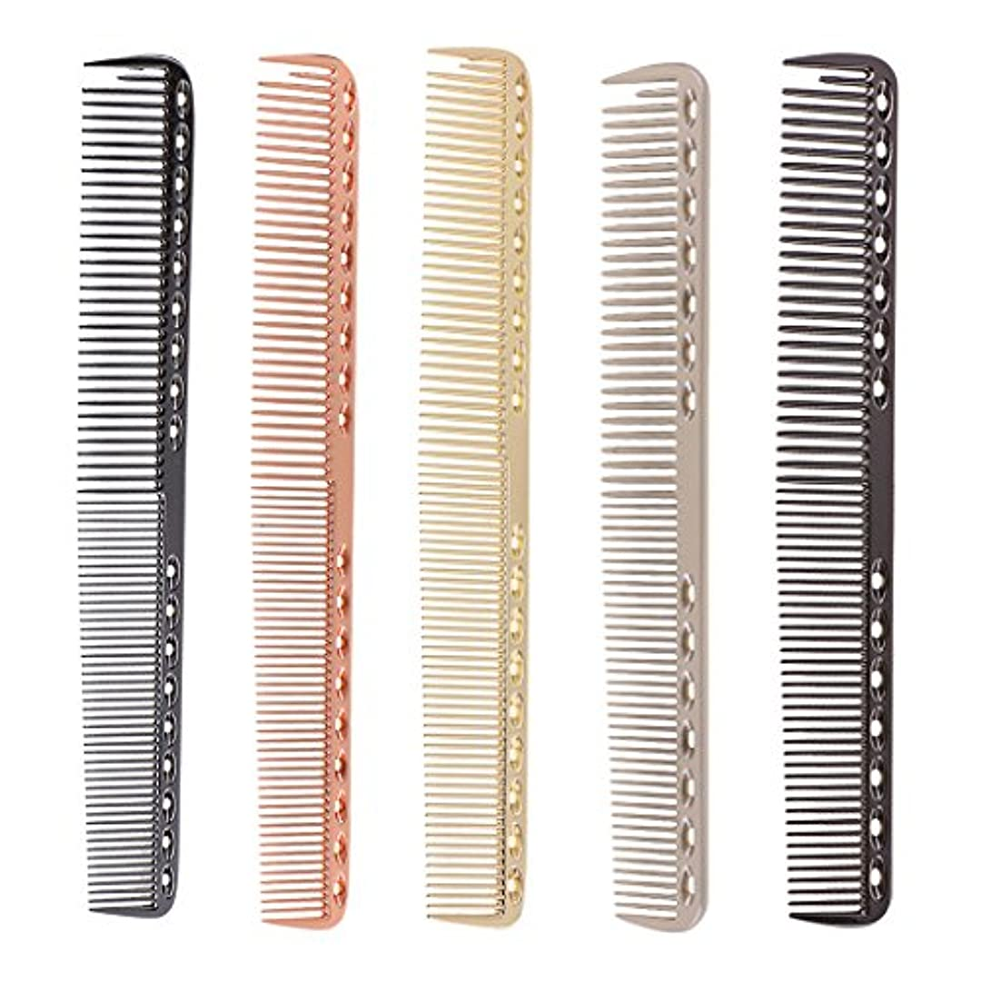 不十分なポット有望Kesoto 5個入り 髪の櫛 櫛 超軽量 アルミ サロン 理髪師 ヘアカット ヘアカッティング