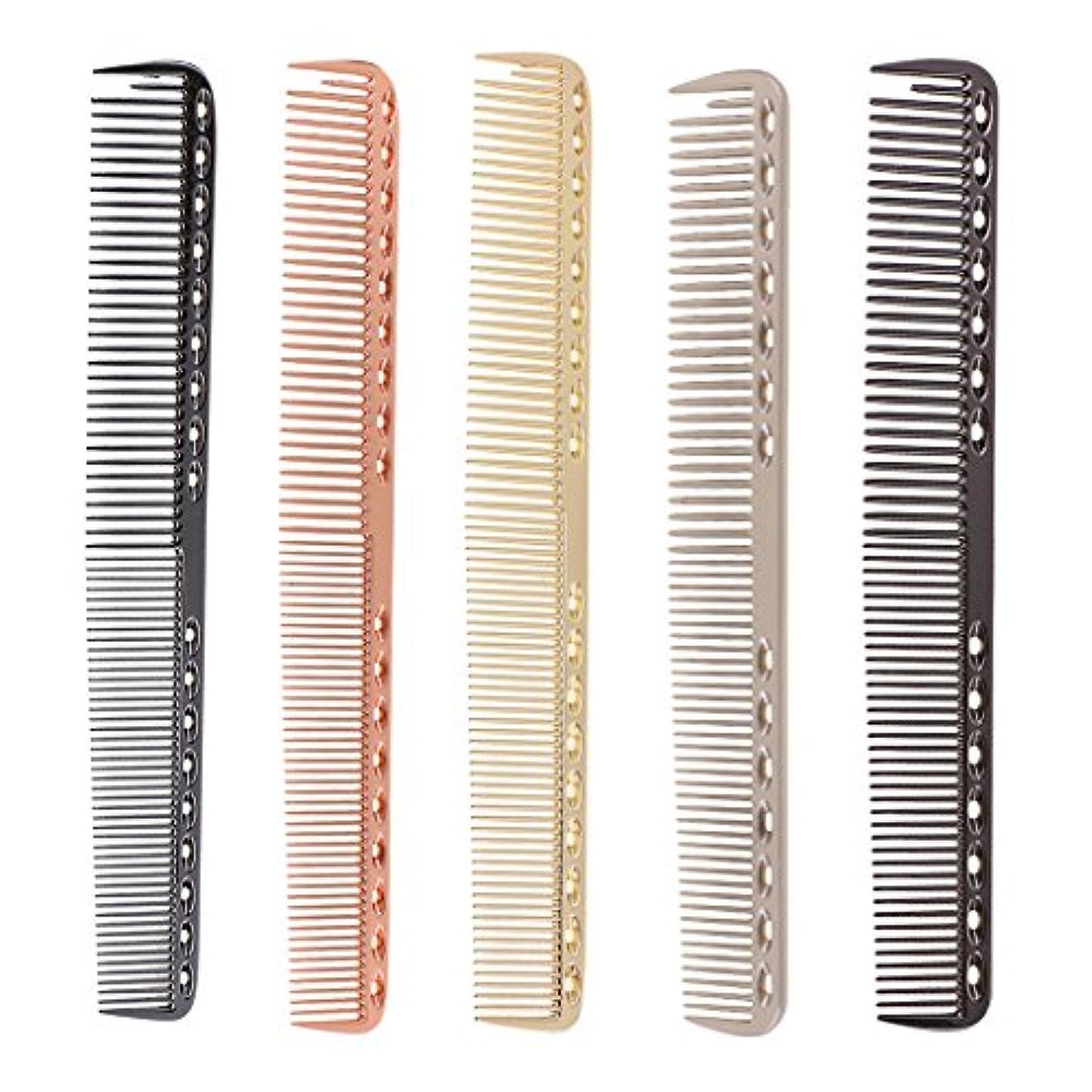 ソロストラトフォードオンエイボン卑しいToygogo 5ピース/個帯電防止アルミロング理髪理髪ヘアカットくし