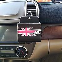 車用エアコン吹き出し収納ボックス 多機能収納ボックス 小物入れ 取り付け簡単 車用収納 ラムレザー製 カーアクセサリー( イギリス)
