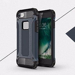 スマホケース スマホカバー iPhoneケース メタリック 耐衝撃 頑丈 ガード タフ 2重構造 NVip7