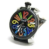 腕時計 48MM MANUALE マヌアーレ CARBON STEEL 5015 ブラック/マルチ ガガミラノ画像①