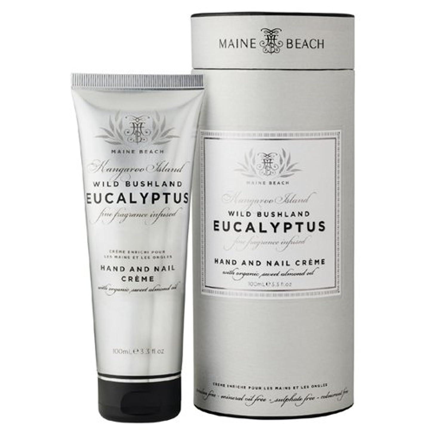 宿る好み大騒ぎMAINE BEACH マインビーチ Eucalyptus Series ユーカリオイル ハンド&ネイルクリーム