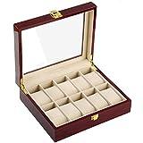 木製 腕時計収納 ボックス 10本用 コレクション ケース ディスプレイ ピアノラッカー