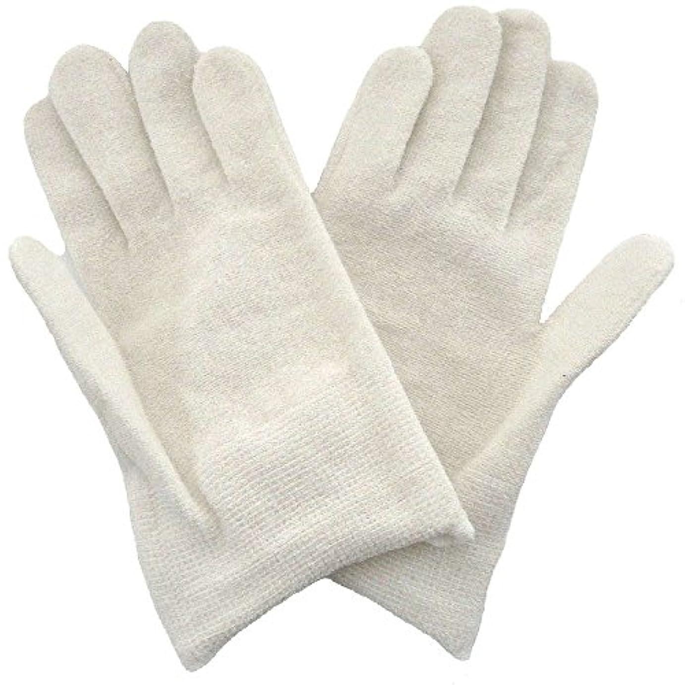 エンコミウムガラガラ解凍する、雪解け、霜解け【アトピー】【水疱瘡】【皮膚炎】 ナノミックス おやすみ手袋:キッズ用 ホワイト