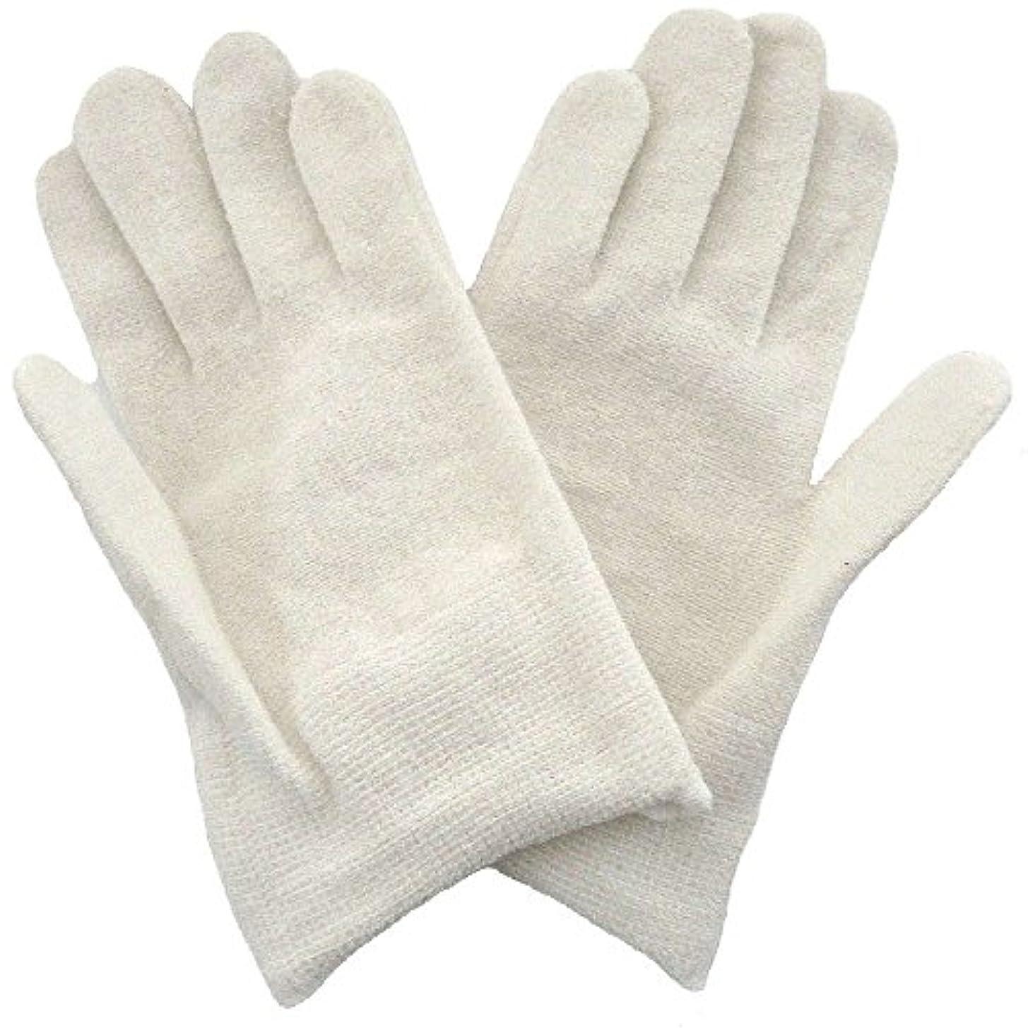 無効にする征服者薄汚い【アトピー】【水疱瘡】【皮膚炎】 ナノミックス おやすみ手袋:キッズ用 ホワイト
