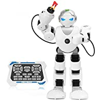 Zooawa Remote Control Alpha Robot Intelligent Programmable Humanoid RC Toy for Kids - White [並行輸入品]
